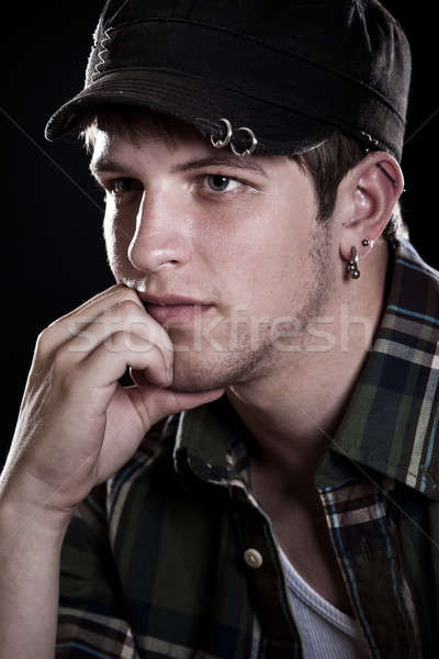 Stock photo: Stressed young man