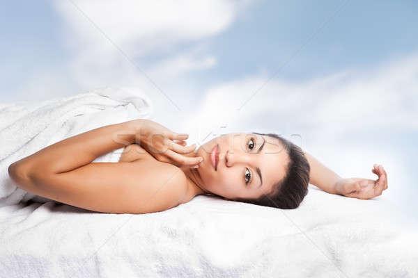Beauty spa girl Stock photo © aremafoto