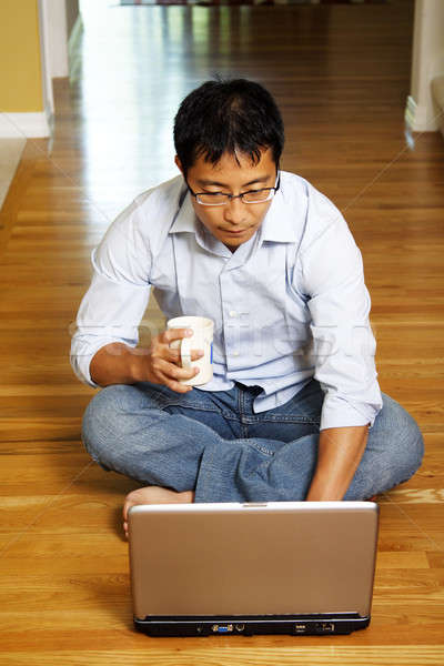 Businessman at home Stock photo © aremafoto