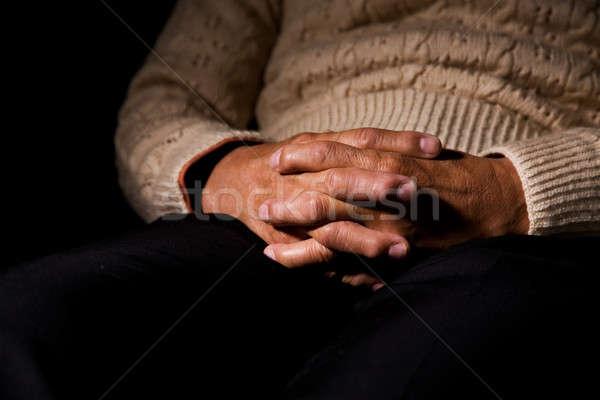 Сток-фото: молиться · выстрел · старший · человека · рук · поклонения