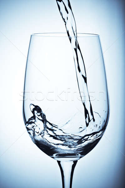 Zoetwater shot water glas Blauw koud Stockfoto © aremafoto