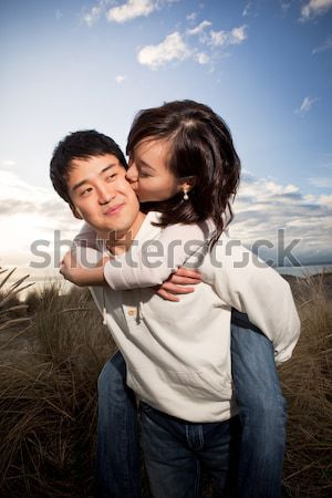 Asian couple Stock photo © aremafoto