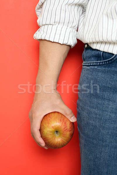 Vida saudável homem maçã lata usado Foto stock © aremafoto