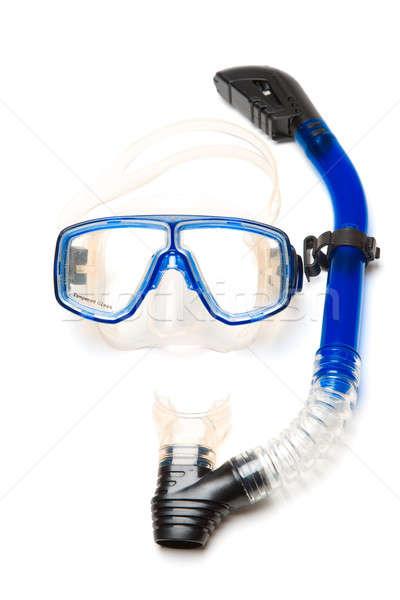 Подводное плавание изолированный выстрел оборудование синий плавать Сток-фото © aremafoto