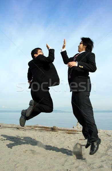 Happy businessmen Stock photo © aremafoto