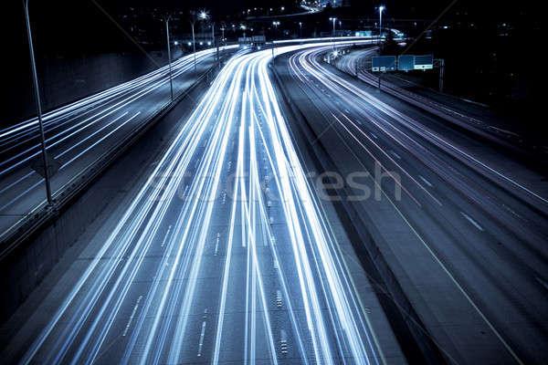 Hora do rush tráfego tempo exposição tiro carros Foto stock © aremafoto