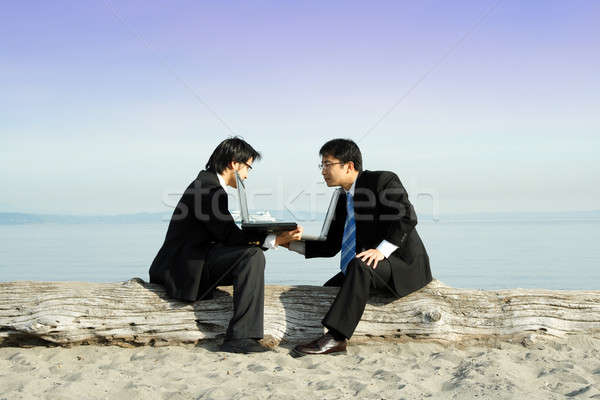 бизнес-команды два бизнесменов другой Сток-фото © aremafoto