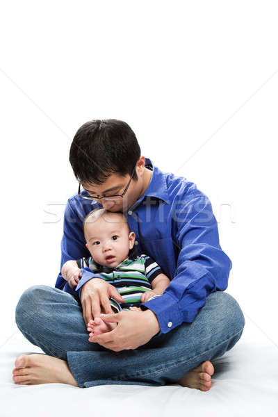 Asian father and son Stock photo © aremafoto