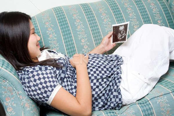 Pregnant woman Stock photo © aremafoto