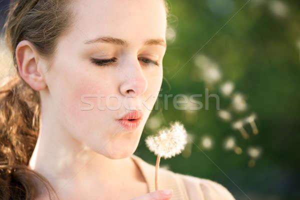 Meisje mooie kaukasisch zomer Stockfoto © aremafoto