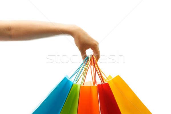 Alışveriş kadın el Stok fotoğraf © aremafoto