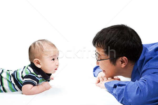 Asian père en fils coup père jouer fils Photo stock © aremafoto