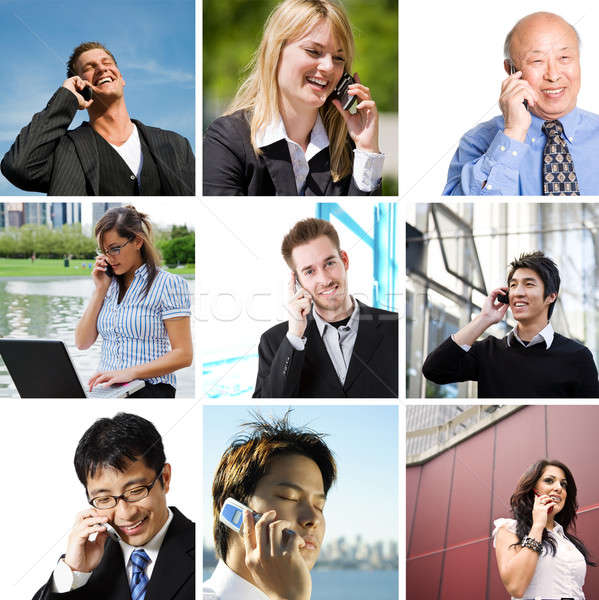 Business people talking on the phone Stock photo © aremafoto