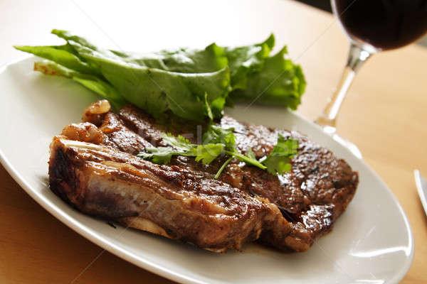 Grilled steak Stock photo © aremafoto