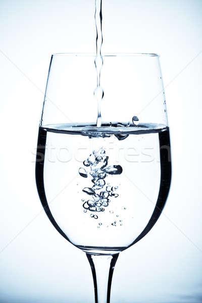 Eau douce coup eau verre bleu froid Photo stock © aremafoto