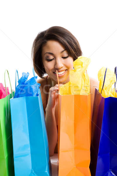 Shopping black woman Stock photo © aremafoto