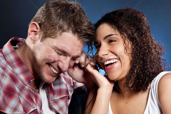 Stock fotó: Romantikus · pár · portré · gyönyörű · szeretet · zene