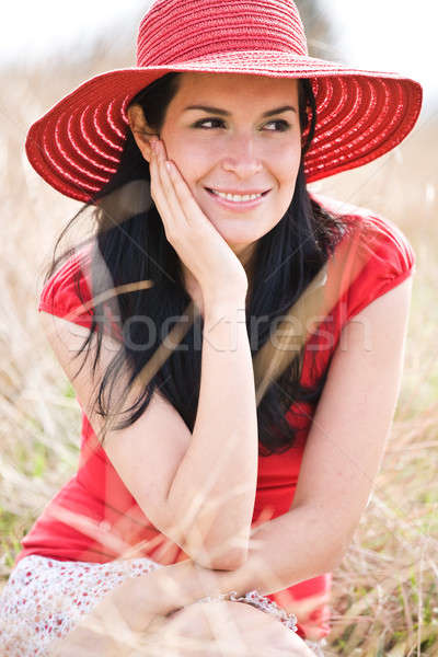Beautiful hispanic woman Stock photo © aremafoto