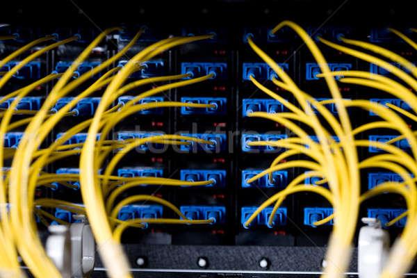 Сток-фото: сеть · кабелей · центр · обработки · данных · бизнеса · компьютер
