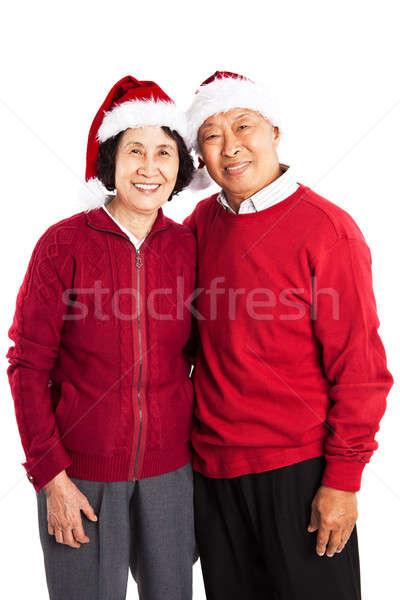 Сток-фото: старший · азиатских · пару · Рождества · выстрел