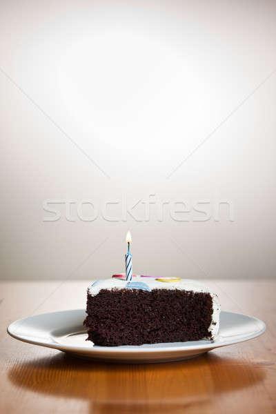 Bolo de aniversário tiro delicioso caseiro comida aniversário Foto stock © aremafoto