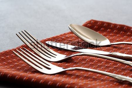 Spoon fork and knife set Stock photo © aremafoto