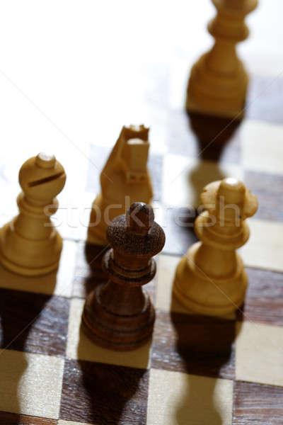 Schaakmat schaken spel oorlog macht succes Stockfoto © aremafoto