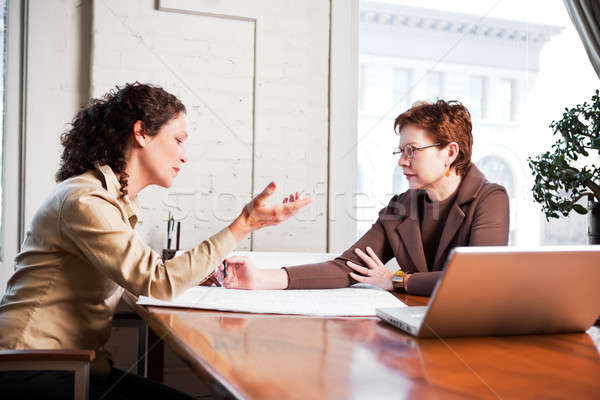 Working businesswomen Stock photo © aremafoto