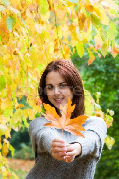 кавказский девушки Осенний сезон портрет красивой молодые Сток-фото © aremafoto