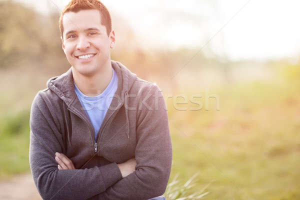 Mixed race man smiling Stock photo © aremafoto