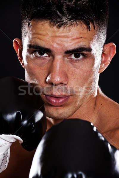 Сток-фото: Hispanic · Боксер · портрет · мужчины · человека · власти