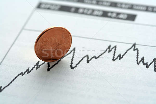Hat Investitionen Grafik Trend Business Geld Stock foto © aremafoto