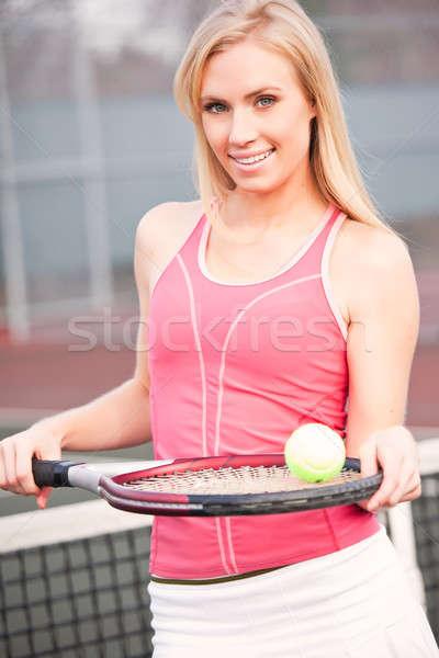 Tennis player Stock photo © aremafoto