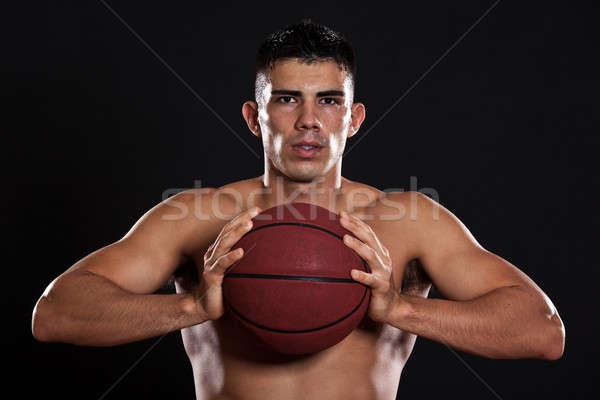 Spanyol kosárlabdázó portré férfi fitnessz játék Stock fotó © aremafoto