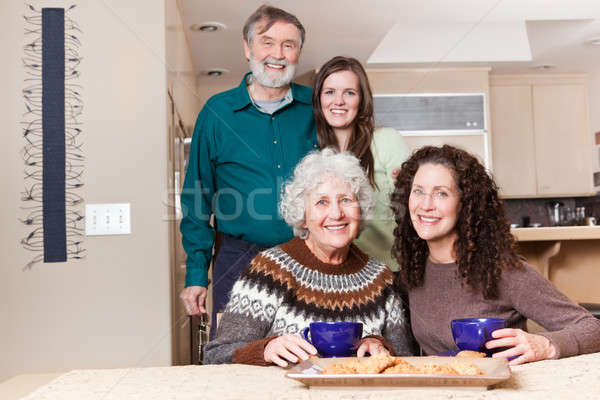 Grandparents, daughter and granddaughter Stock photo © aremafoto