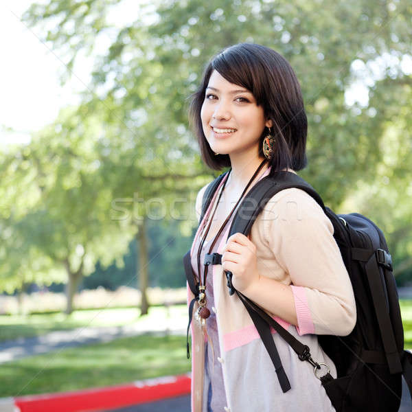 Mixed race college student Stock photo © aremafoto