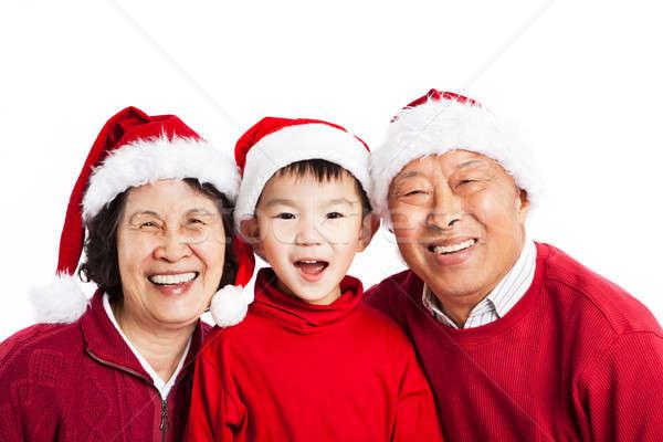 Сток-фото: азиатских · дедушка · и · бабушка · Рождества · выстрел · внук