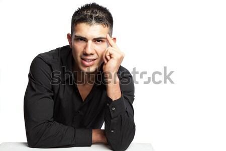 Сток-фото: Hispanic · бизнесмен · выстрел · портрет · корпоративного · профессиональных