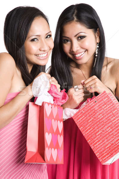 Beautiful valentine asian women Stock photo © aremafoto