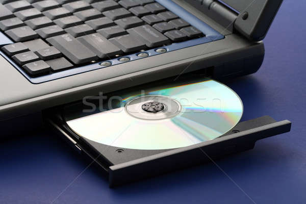 CD ROM tray on a laptop Stock photo © aremafoto