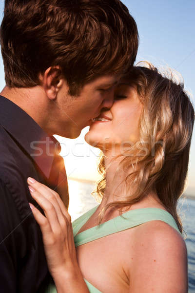 Romantic couple in love Stock photo © aremafoto