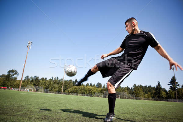 Сток-фото: Hispanic · Футбол · футболист · мяча · выстрел