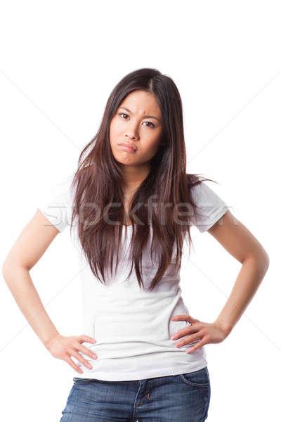 Angry asian woman Stock photo © aremafoto