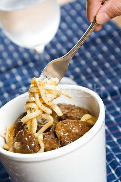 Beef noodle Stock photo © aremafoto
