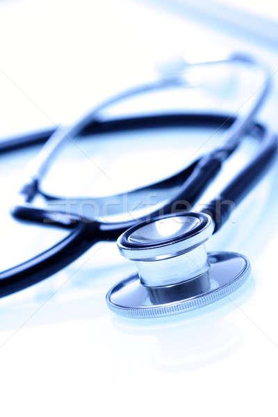 Stok fotoğraf: Stetoskop · atış · beyaz · doktor · sağlık · hastane