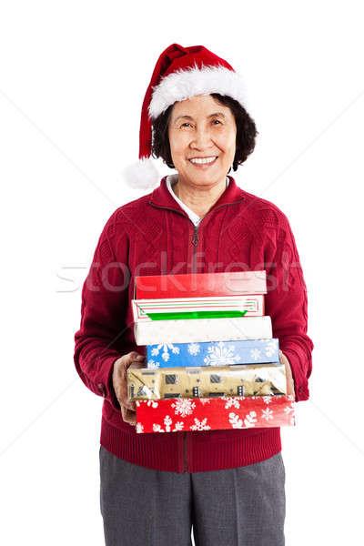 Сток-фото: старший · азиатских · Рождества · выстрел