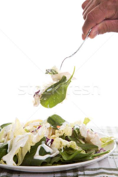 Eating salad Stock photo © aremafoto