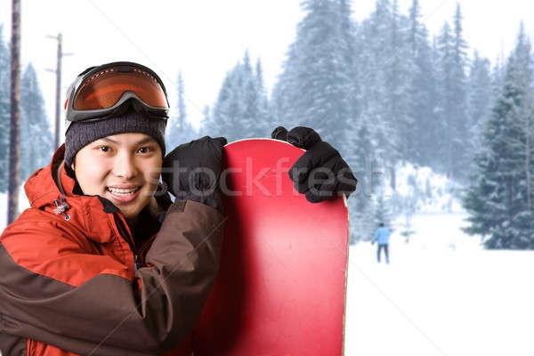 Stok fotoğraf: Atış · Asya · Kayak · başvurmak · kar