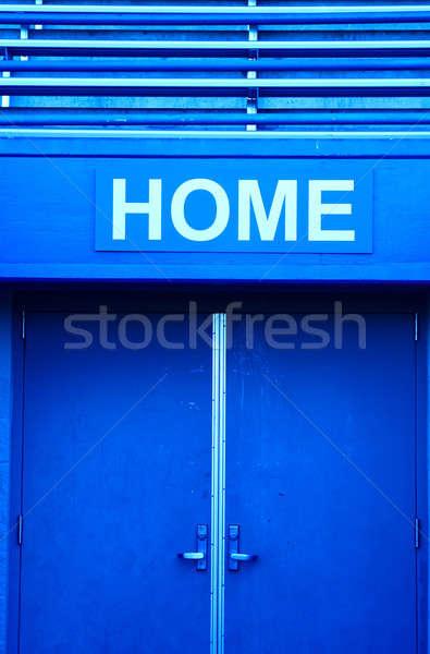 Deporte estadio tiro casa vestidor azul Foto stock © aremafoto