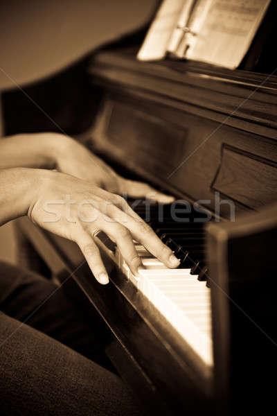 Playing piano Stock photo © aremafoto
